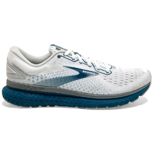 Brooks Glycerin 18 Men's White/Grey/Posieden