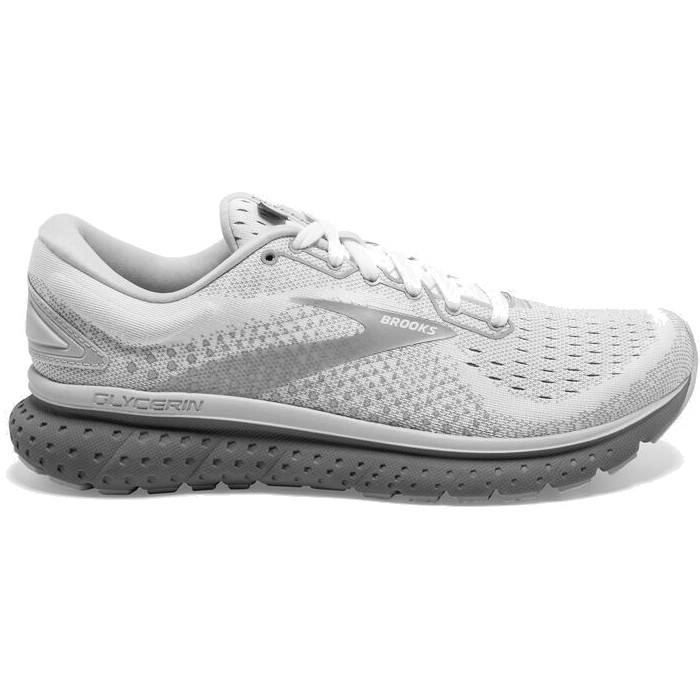 Brooks Glycerin 18 Women's White/Grey /Primer