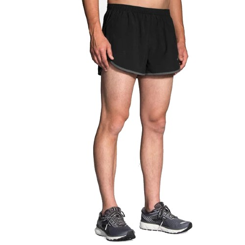 "Brooks Hightail 3"" Split Short Men's Black/Asphalt"