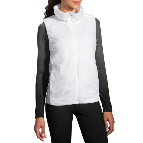 Brooks LSD Thermal Vest Women's White/Heather Oxford - Brooks Style # 221137.128 F16