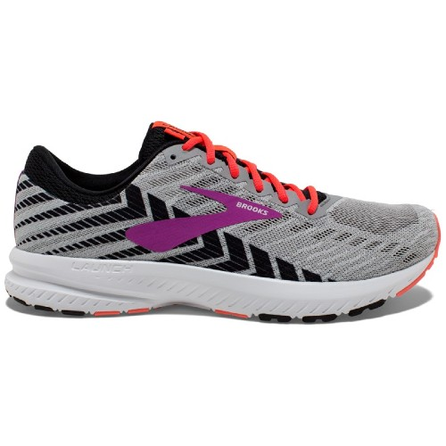 Brooks Launch 6 Women's Grey/Black/Purple