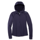 Brooks Notch Thermal Hoodie Women's Heather Navy/Navy