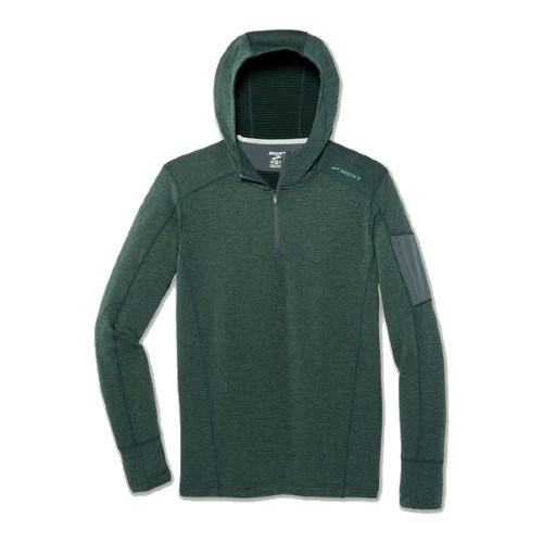 Brooks Notch Thermal Hoodie Men's Heather Balsam
