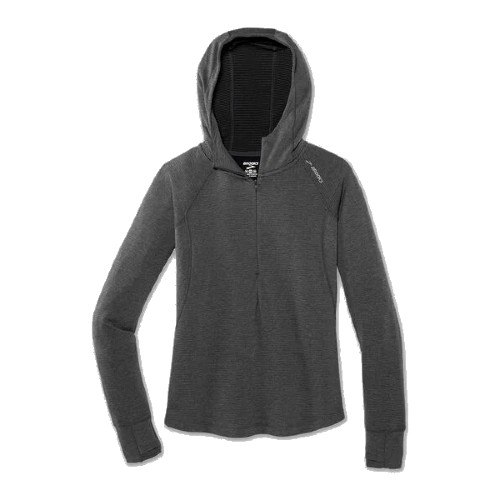 Brooks Notch Thermal Hoodie Women's Heather/Asphalt