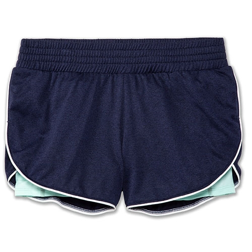 "Brooks Rep 3"" 2-in-1 Short Women's Heather Navy/Ice"
