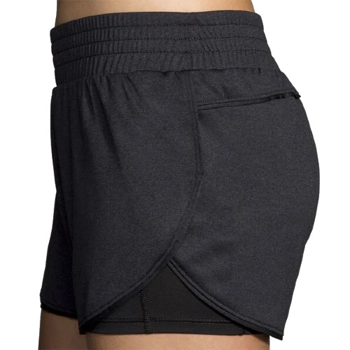 "Brooks Rep 3"" 2-in-1 Short Women's Black"