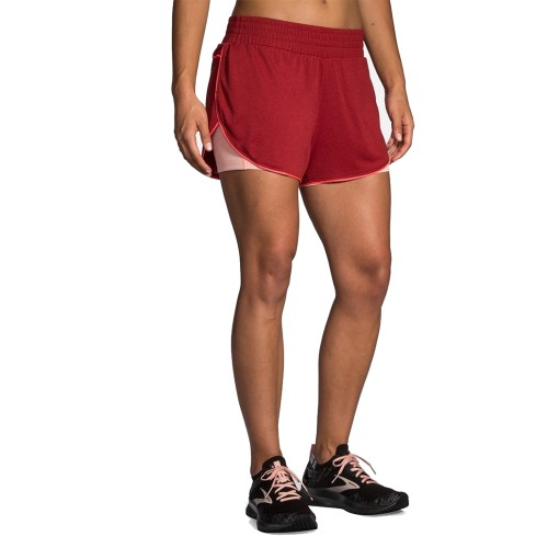 "Brooks Rep 3"" 2-in-1 Short Women's Heather Beet/Hot Pink"