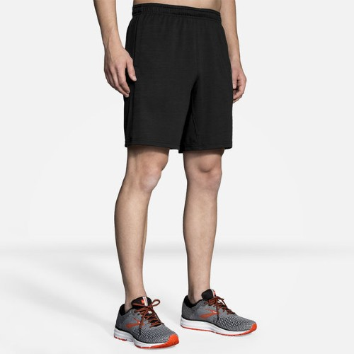 "Brooks Rep 8"" Short Men's Heather Black"