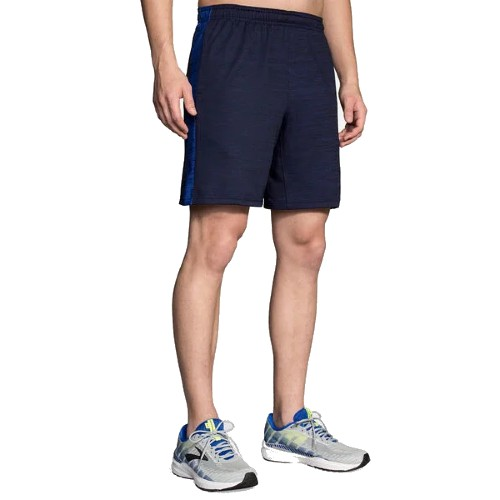 "Brooks Rep 8"" Short Men's Heather Navy/Cobalt"