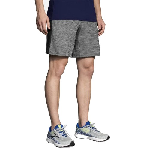 "Brooks Rep 8"" Short Men's Heather Ash/Black"