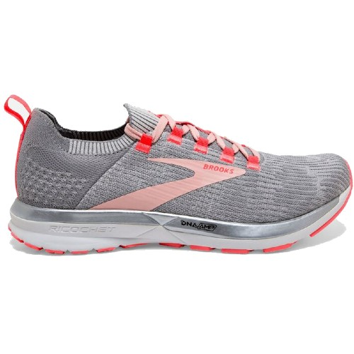 Brooks Ricochet 2 Women's Grey/Alloy/Coral
