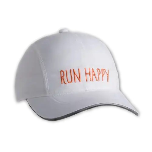 Brooks Run Happy Chaser Hat Unisex White/Nectar