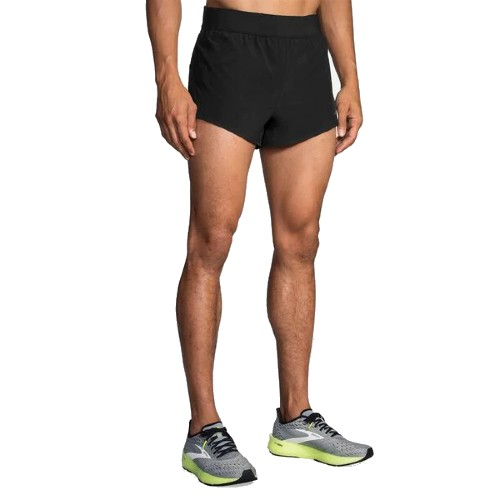 "Brooks Sherpa 3"" Split Short Men's Black"