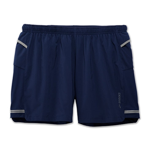 "Brooks Sherpa 5"" Short Men's Navy"