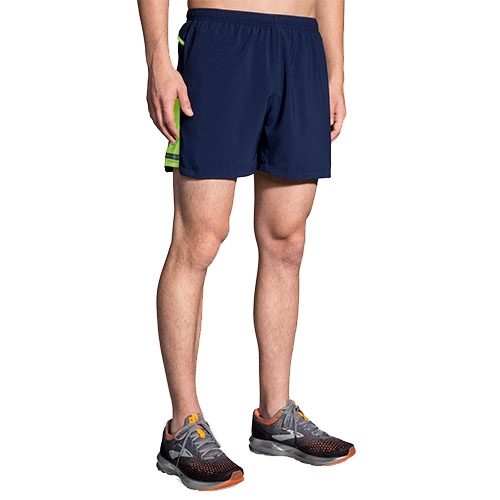 "Brooks Sherpa 5"" Short Men's Navy/Nightlife"