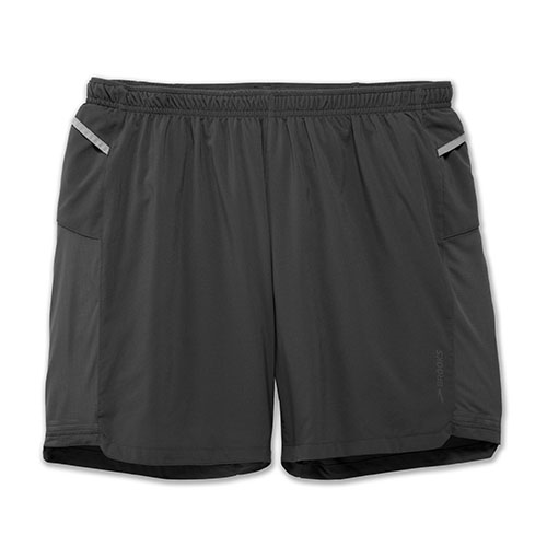 "Brooks Sherpa 7"" 2 in 1 Short Men's Asphalt"