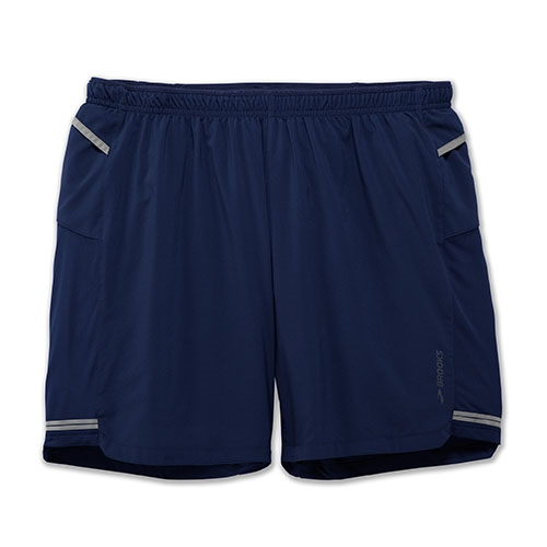 "Brooks Sherpa 7"" 2 in 1 Short Men's Navy"