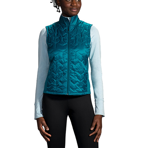 Brooks Shield Hybrid Vest Women's Sea/Deep Sea