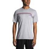 Brooks Track T-Shirt Men's Heather Sterling