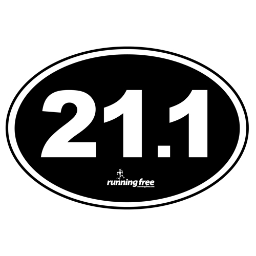 Bumper Sticker 21.1 Half Marathon Bumper Sticker