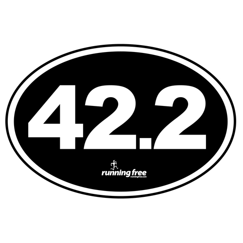Bumper Sticker 42.2 Marathon Bumper Sticker