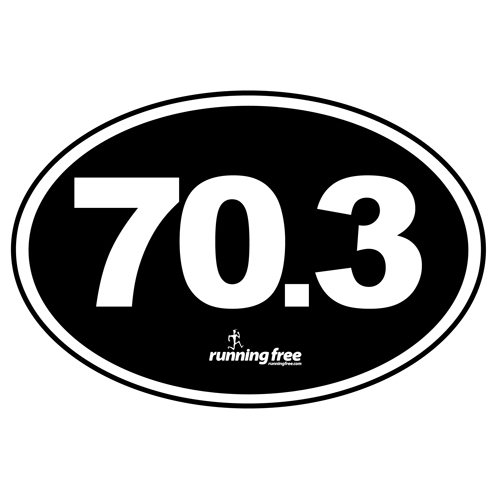 Bumper Sticker 70.3 Half Iron Bumper Sticker