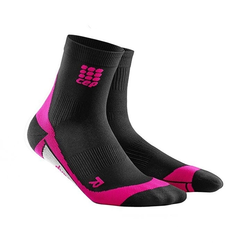 CEP Dynamic + Short Socks Women's Black/Pink