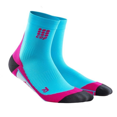 CEP Dynamic + Short Socks Women's Hawaii Blue/Pink
