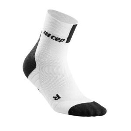 CEP Short Socks 3.0 Men's White/Dark Grey