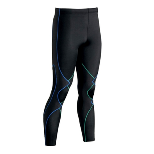 CW-X Expert Tights Men's Black/Green/Blue