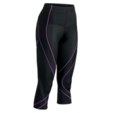 CW-X Pro 3/4 Tights Women's Black/Lt Purple/Purple