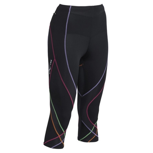 CW-X Pro 3/4 Tights Women's Black/Rainbow
