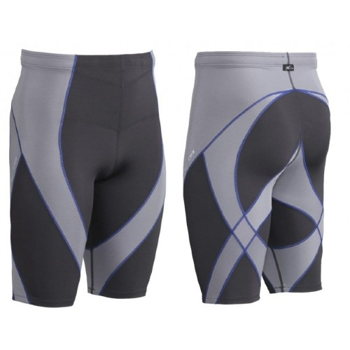 CW-X Pro Shorts Men's Grey/Blue