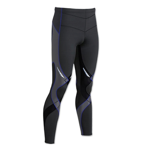 CW-X Stabilyx Tights Men's Black/Grey/Blue Stitch