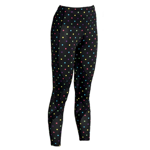 CW-X Stabilyx Tights Women's Black/Polka-Dots