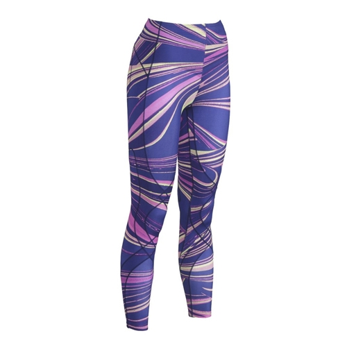 CW-X Stabilyx Tights Women's Purple Lava Print
