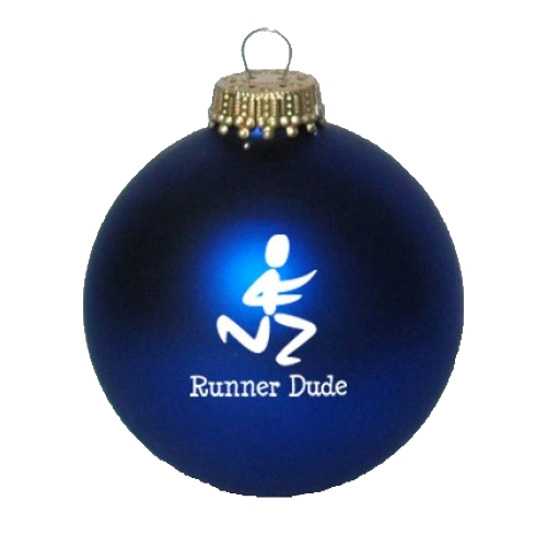 Christmas Ornament Blue Runner Dude