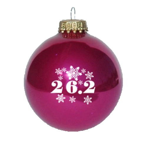 Christmas Ornament Burgundy 26.2 Snowflakes
