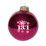 Christmas Ornament Burgundy 13.1 Snowflakes