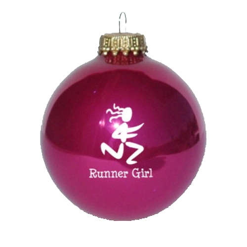 Christmas Ornament Pink Runner Girl