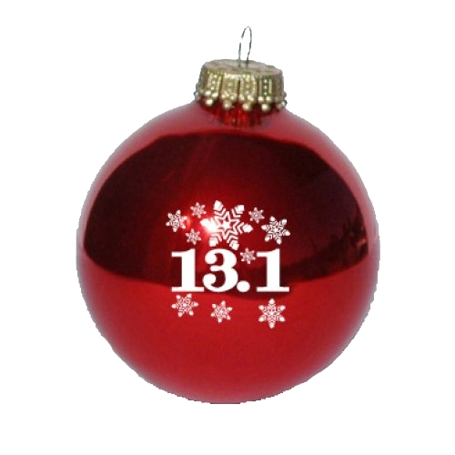 Christmas Ornament Red 13.1 Snowflakes