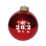 Christmas Ornament Red 26.2 Snowflakes