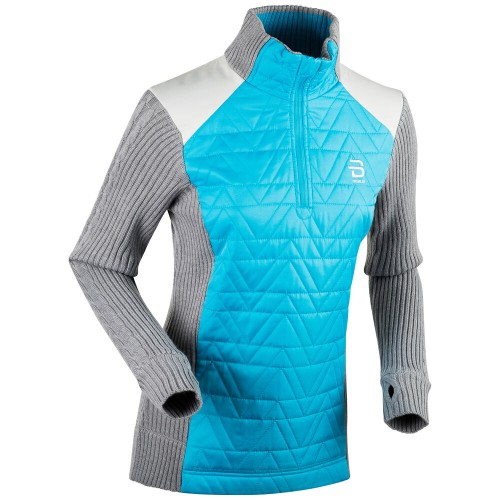 Daehlie Half Zip Comfy Women's Lt Blue/Grey