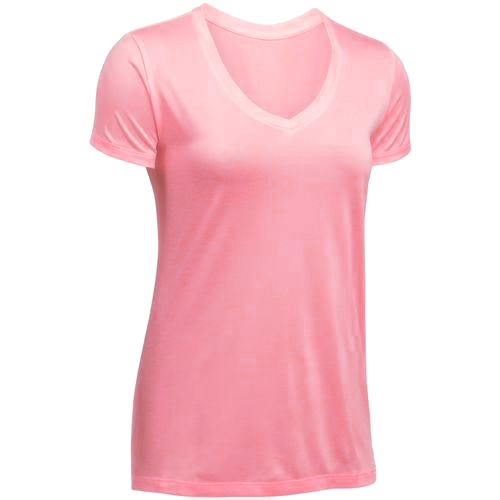 Diadora Basic V Neck Tech Tee Women's Pink Coral