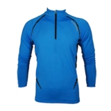 Diadora Gordon 1/2 Zip L/S Men's Methyl Blue/Black