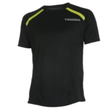 Diadora Larson S/S Tee Men's Black/Lime Punch
