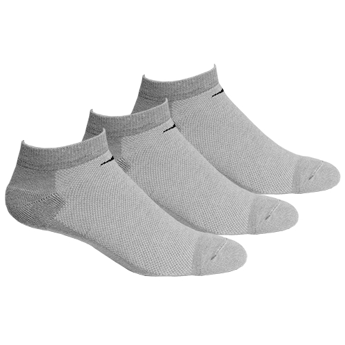 Diadora Running 3 PK Low Socks Unisex Grey