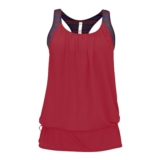 Diadora Virisana 2 Layer Tank Women's Red/Cerise Stripe