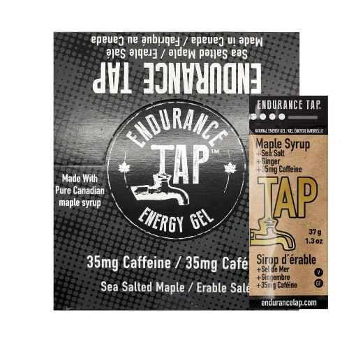 Endurance-Tap-Gel-Box-of-24 Maple Syrup w/ Caffeine
