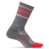 Feetures Elite LC Mini-Crew Unisex Graphite/Red Stripe